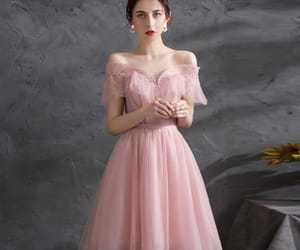 a-line, sequins, and off-the-shoulder image