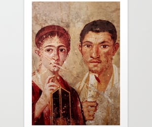 ancient art, baker and his wife, and fresco art image