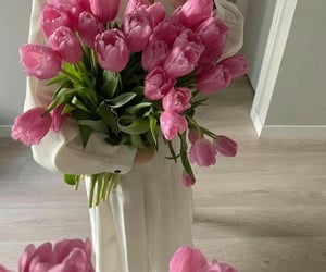 flowers, spring, and pinkflowers image