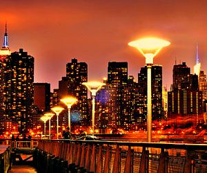 light, city, and luxury image