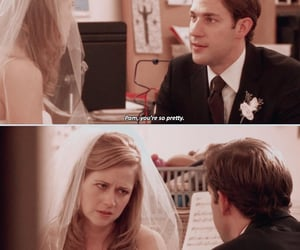 jim halpert, pam beesly, and scene image