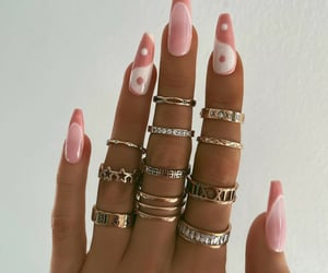 accessories, manicure, and nail art image