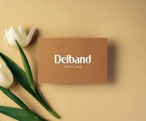 Logo, logo design, and flower shop image