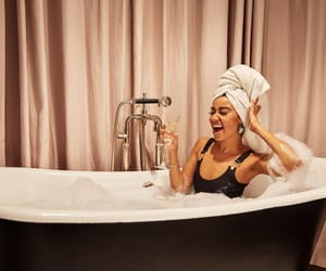 bath, beautiful, and hairstyle image
