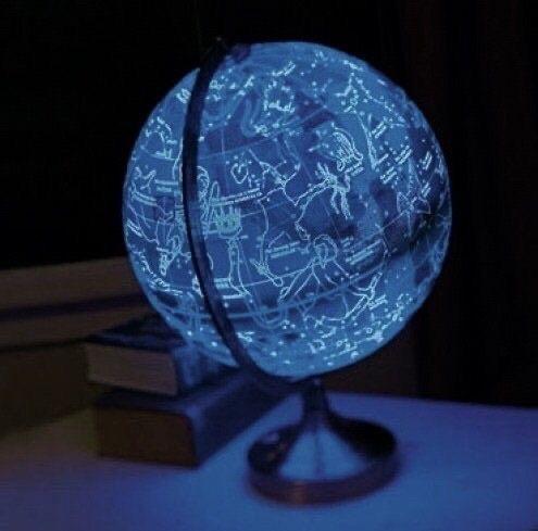 blue, aesthetic, and globe image