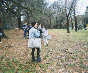 girl and park image