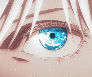 anime, satoru gojou, and blue eyes image