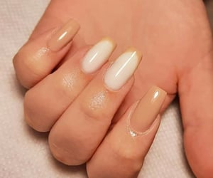 april, brown and white, and nails image