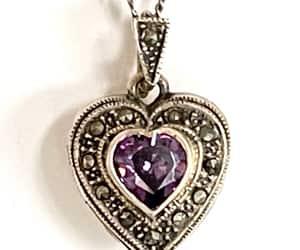 etsy, heart locket, and sterling locket image