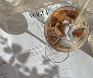coffee, ice, and aesthetic image