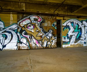 streetart, abandoned, and graffiti image