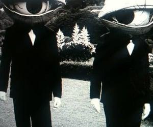 eyes, black and white, and black image