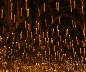 harry potter, hogwarts, and candle image