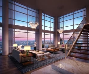 architecture, luxe, and penthouse image