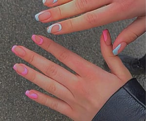 aesthetic, blue, and blue nails image