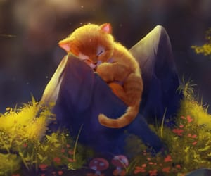 cat, illustration, and artbook image