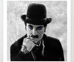 charlie chaplin, old hollywood, and vintage art image