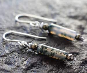 earrings, gemstones, and gold earrings image