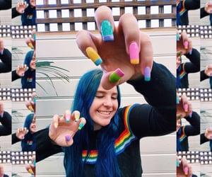 aesthetic, dye, and rainbow image
