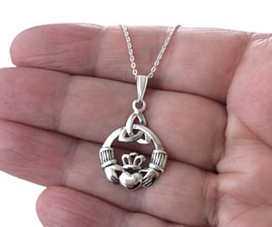 etsy, vintage jewelry, and claddagh pendant image