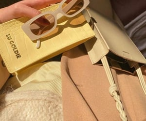 bag, beige, and clutch image