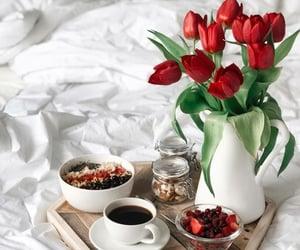 flowers, breakfast, and coffee image