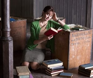 50s, beautiful, and books image