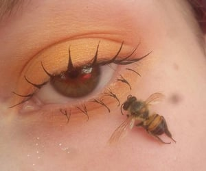 bees, eyes, and golden image
