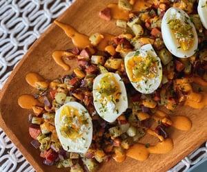 breakfast, eggs, and food image