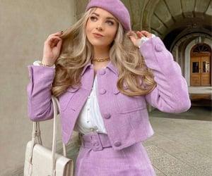 elegant, fashion, and purple image