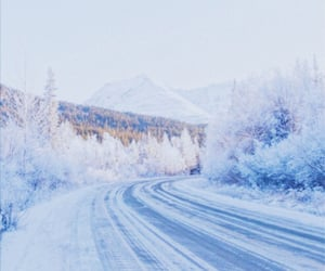 blue, cold, and snow image