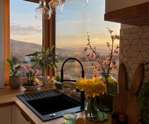 kitchen, view, and home image