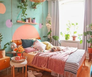 bedroom, colors, and decor image