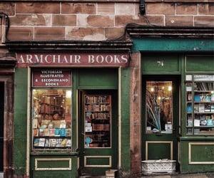 bookstore, edinburgh, and old books image