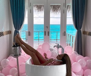 balloons, beauty, and chill image