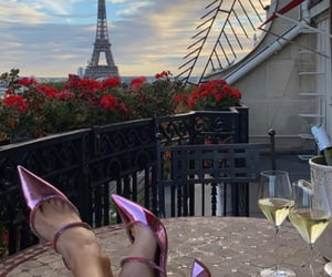 heels, paris, and vacation image