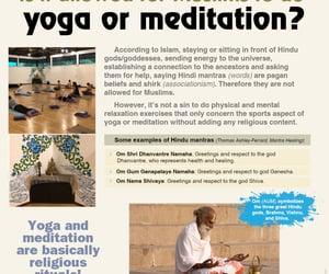 islam, meditation, and yoga image