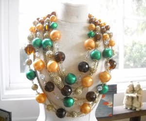 aurora borealis, beaded necklace, and etsy image