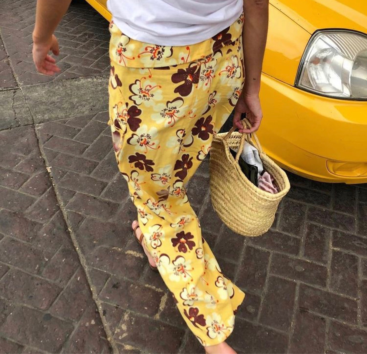 floral print, street style, and summer image