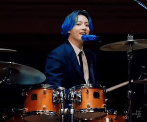 blue hair, rm, and bts image