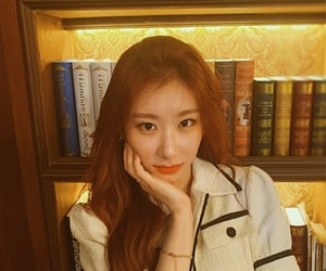 kpop, chaeryeong, and library image