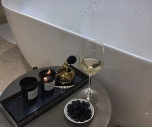 drink, candle, and interior image