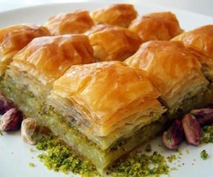 article, baklava, and desserts image