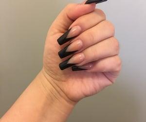 black, nails, and natural image