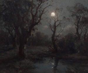 art, painting, and dark image