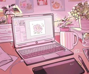 pink, gif, and aesthetic image