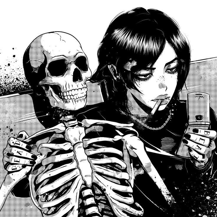 anime, manga, and dark image