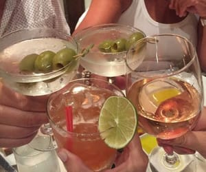 drinks, girls, and friends image