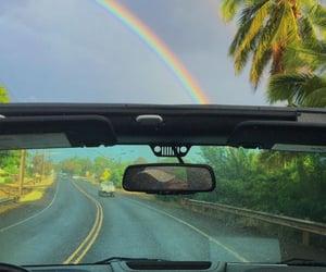 hawaii and rainbow image