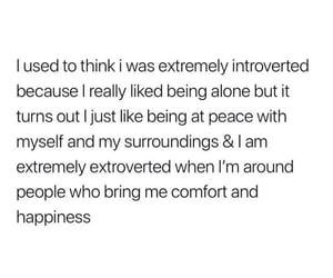 introvert, quote, and extrovert image